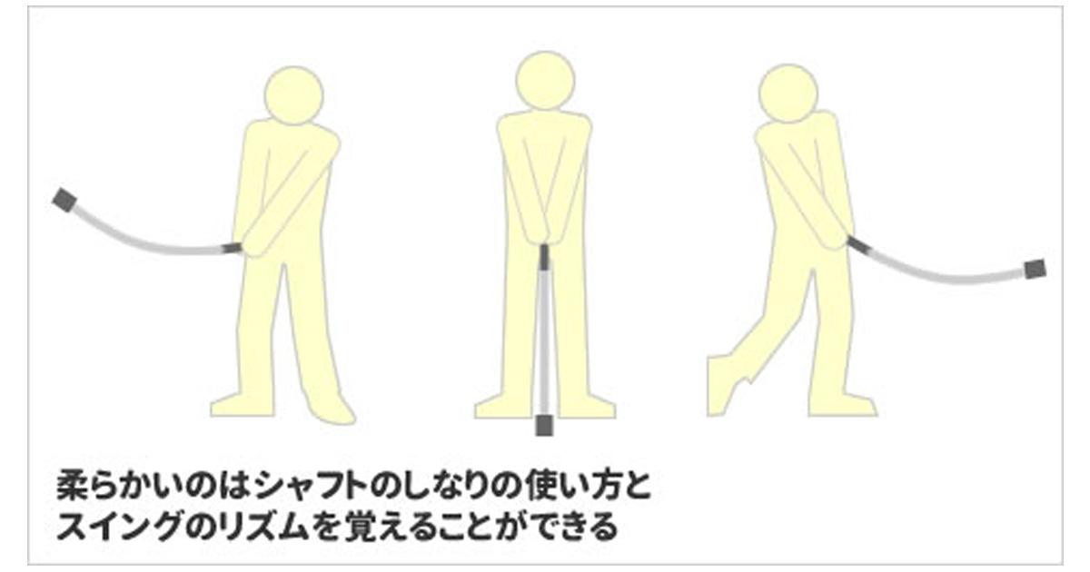 柔らかいタイプはシャフトの使い方やタイミングが習得できる