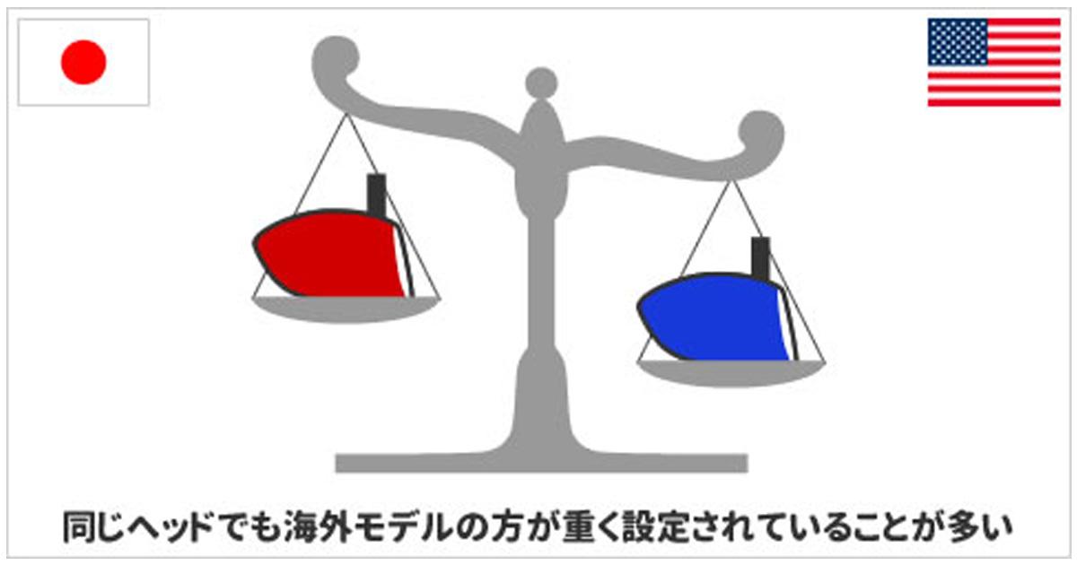 ヘッドの性能は同じでも重さが異なる場合がある