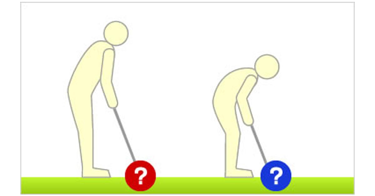 構えや打ち方によって動かしやすいパターは異なる